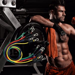 11Pcs Resistance Bands Set Expander for Yoga and Exercise, Fitness Rubber Tubes, Band Stretch for Home and Gym Training