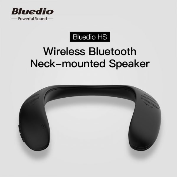 Bluedio HS Bluetooth 5.0 Neck Speaker Wireless Speaker with Bass FM Radio SD Card Slot and Microphone for Game